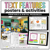Text Features Posters & Activities (+ DIGITAL Version for distance learning!)