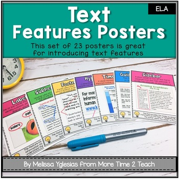 Text Features Posters: Cute, Colorful, and COMPREHENSIVE