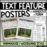 Text Features Posters - Farmhouse / Woodland Style