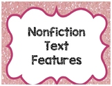 Text Features Posters and Cut and Paste Activity
