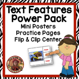 Text Features Power Pack with Mini Posters, Center and Practice Pages