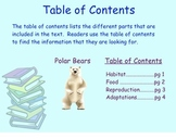 Text Features Power Point Presentation