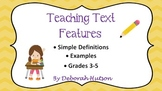 Text Features PowerPoint w/ Printable Interactive Notebook Pages