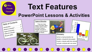 Text Features PowerPoint Lessons and Activities