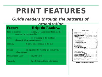 Text Features Powerpoint Slideshow