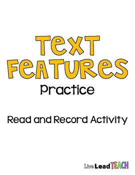 Text Features Practice