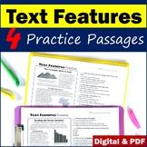 Nonfiction Text Features Worksheets - Printable & Digital