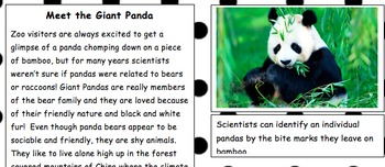 Nonfiction Article with Comprehension Quiz-Protecting the Panda