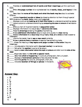 Text Features, Purpose, Scanger Hunt, and Common Formative Assessment