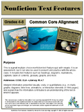 Text Features Quiz - Tied to Common Core