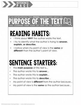 Purpose of the Text (RI.2.6 and RI.3.6)