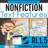 Nonfiction Text Features 1st Grade RI.1.5 with Digital Lea