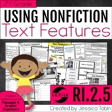 Nonfiction Text Features 2nd Grade RI.2.5 with Digital Learning Links - RI2.5