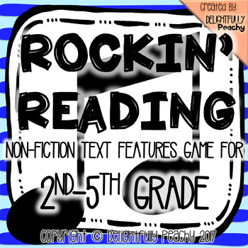 Text Features Reading Strategies Game 2nd-5th Grade