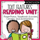 Text Features Reading Unit With Centers