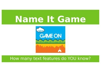 Text Features Review Game