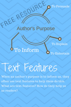 Text Features Scavanger Hunt (as part of a unit on Author's Purpose)