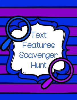 Text Features Scavenger Hunt FREEBIE