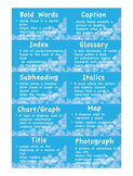 Text Features Scavenger Hunt Game 1st, 2nd, 3rd, Grades CCCS