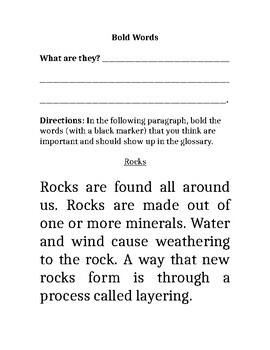 Text Features Scavenger Hunt and Book
