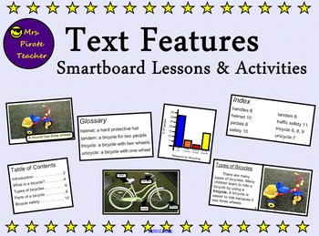 Text Features Smartboard Lessons and Activities