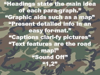 Text Features Sound Off!