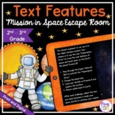 Text Features Space Escape Room - Google Distance Learning