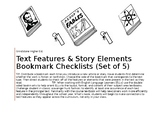 Text Features & Story Elements Editable Bookmarks~ NonFiction & Fiction