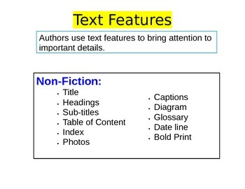 Text Features/Structures