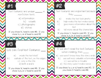 Text Features Task Cards (Differentiated)