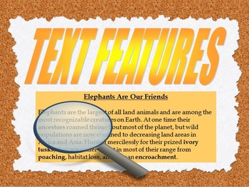Text Features Use With Any Textbook