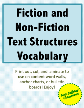 Text Features Vocabulary