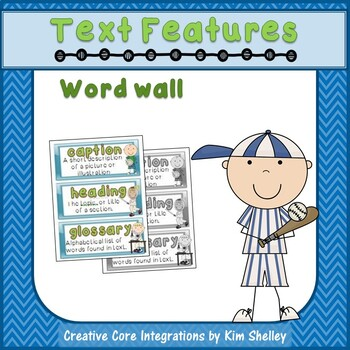 Text Features Word Wall