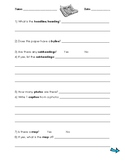 Text Features Worksheet