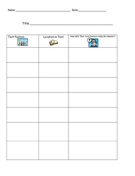 Text Features Worksheets (FREE!)