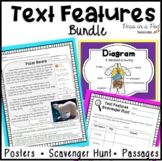 Text Features Worksheets, Posters, & Scavenger Hunts