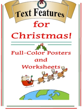 Text Features for Christmas Posters & Worksheet set