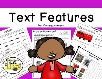 Text Features for Kindergarteners