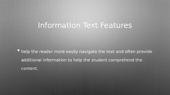 Text Features for NonFiction
