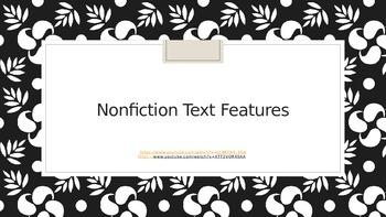 Text Features for Nonfiction/ Power point/ Scavenger hunt