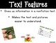 Text Features for Young Learners