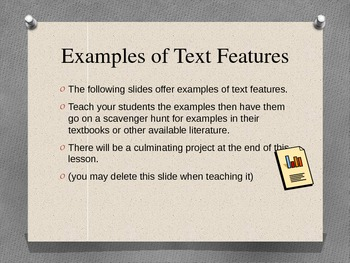 Text Features- more than just words