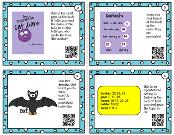 Text Features - task cards for scoot or review with or without QR codes
