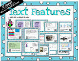 Text Features - task cards for scoot or review with or wit