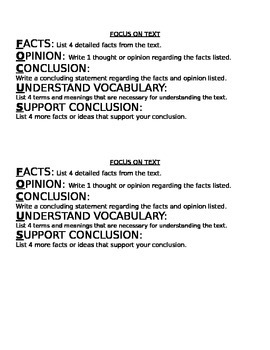 Text Focus
