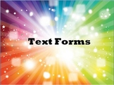 Text Forms PowerPoint & Graphic Organizers