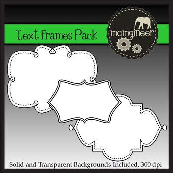 Text Frames Pack (Commercial Use Graphics)