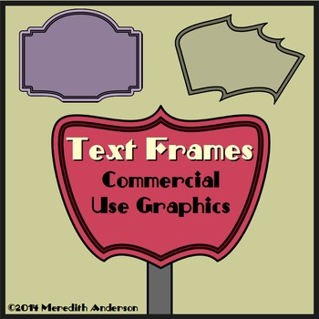 Text Frames and Task Card Frames Pack: Retro & More!