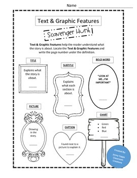 Text & Graphic Feature Scavenger Hunt