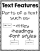 Text & Graphic Features Activities for Practice & Review